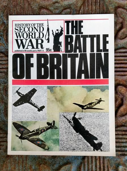 Published in 1972 by BPC Publishing Ltd. Dunkirk is Part 9 of this 96 weekly magazine publication. Wonderful full page photos of the war with 4 great articles: Pg. 225 - The Battle of Britain by Denis Richards, Pg. 244 - One Man's Blitz by Peter Elstob, Pg. 245 - Britain Gathers Strength by Jerrard Tickell, and  Pg. 252- Heroes Without Guns. This item is in very good condition with a tight binding, no tears or folds, no foxing. A great item for any history buff!