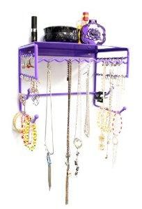 Organizer Shelf for Hanging Earrings, Bracelets, Necklaces, & Hair