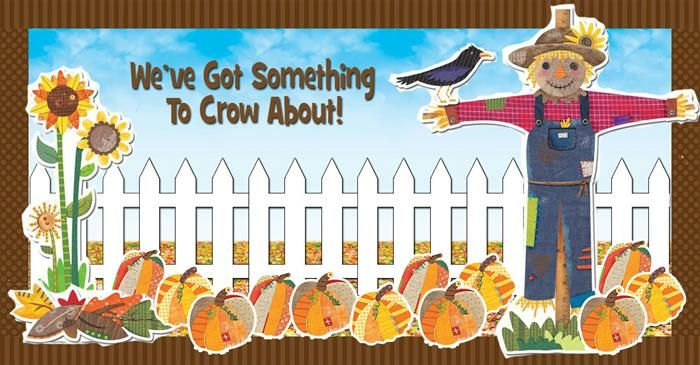 """We've Got Something To Crow About!"" Fall Bulletin Board Idea"