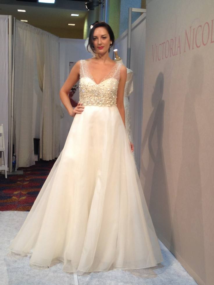 Sleeveless Satin Mermaid Wedding Dress With Sheer Tulle Straps By Victoria Nicole