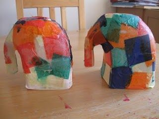 For my K-2 friends---could this be Elmer the elephant? Milk carton elephants