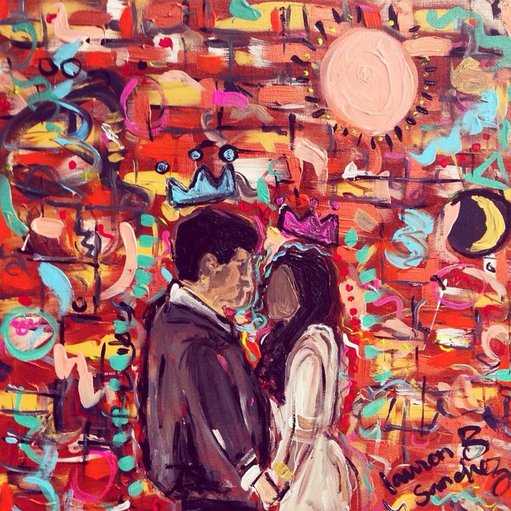 Valencia  24x24 Acrylic Gesso  #art #canadianpainter #painting #neoexpressionism #love #newlyweds #canvas #painting
