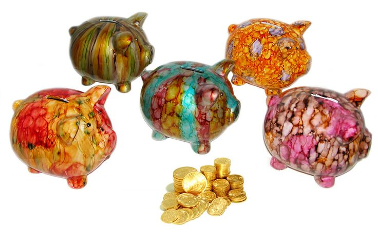 Multi Color Tie Dye Penny Safe Traditional Piggy Bank 1pc from House of Marbles  #HouseofMarble
