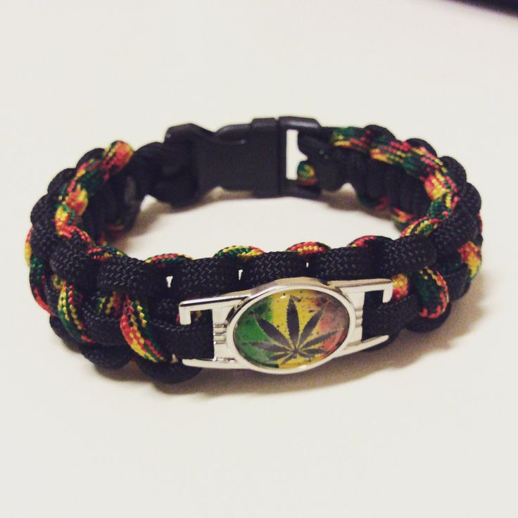 Jamaican Paracord Bracelet. For sale soon, made to order.  #paracord #paracordbracelet #black #green #yellow #red #jamaica #jamaican #weed #marijuana #legalizemarijuana