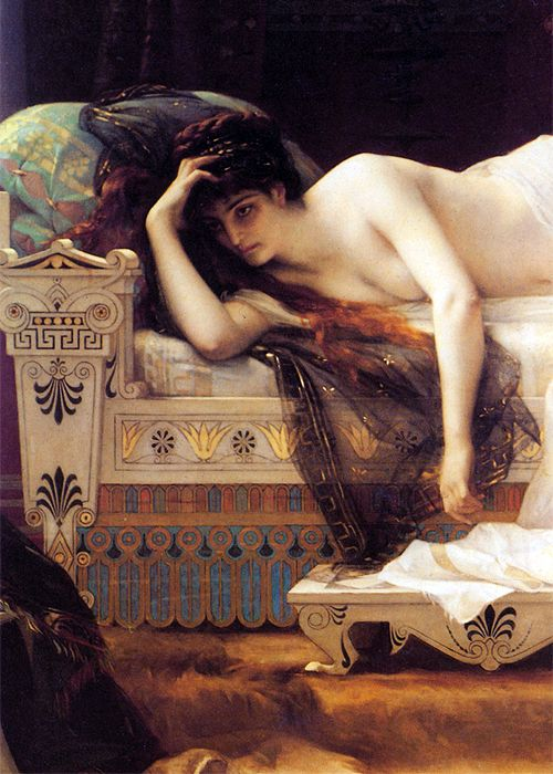 Phedre (detail) by Alexandre Cabanel (1823-1889) oil on canvas,...