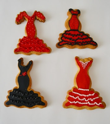 Galletas Traje de flamenca.