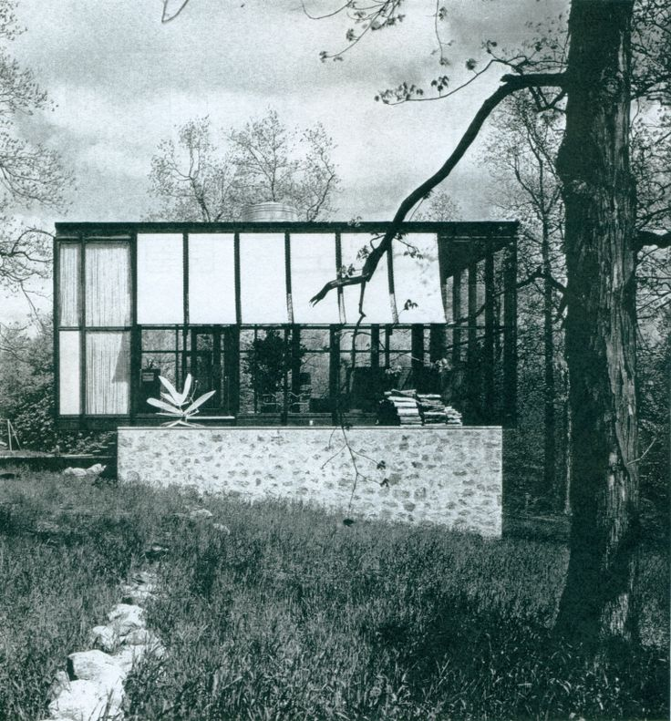 #Philip Johnson | 1953 - The Robert C. Wiley House, aka the Wiley Development Company House, 178 Sleepy Hollow Road, New Canaan CT*