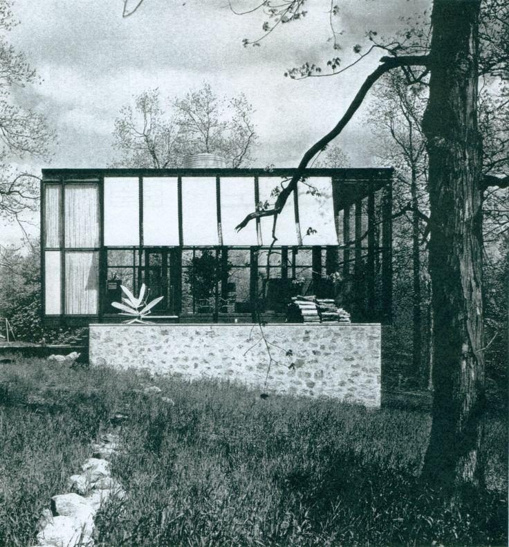 Philip Johnson | 1953 - The Robert C. Wiley House, aka the Wiley Development Company House, 178 Sleepy Hollow Road, New Canaan CT.