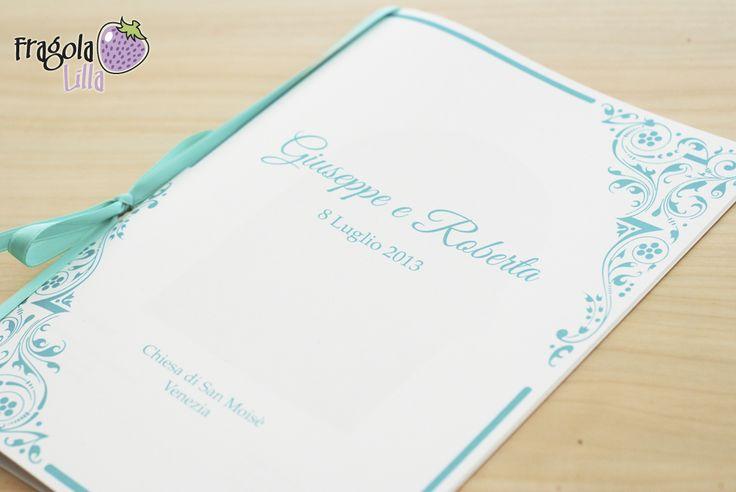 fragola lilla: Libretto messa con nastro verde Tiffany