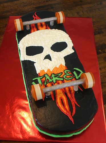think i will try a skateboard cake for shiloh's bday... looks fairly easy