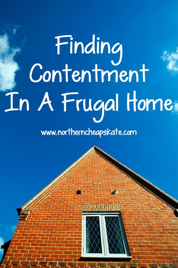 It doesn't matter what your reasons are for living a frugal life. When you find contentment in your frugal home, you find a key to lifelong happiness.