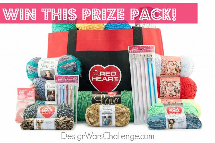 Win this great yarn creations prize pack of Red heart Yarn by DesignnWarsChallenge.com enter there too!