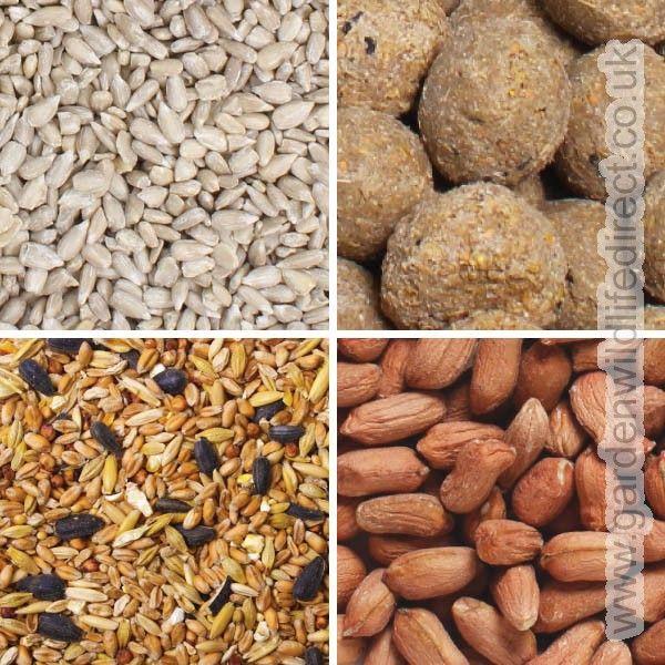 Feed Bundle - All Year Round Mix, Sunflower Hearts, Bird Peanuts & Fat Balls