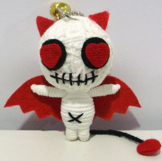 Devil demon love String doll Voodoo doll keychain/ by narakdoll