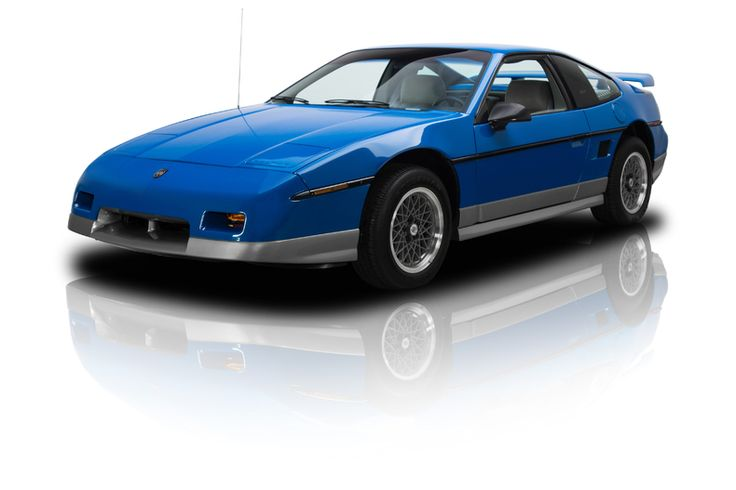 Blue 1987 Pontiac Fiero GT. This color was only available in 1987.  This blue GT is my dream car.