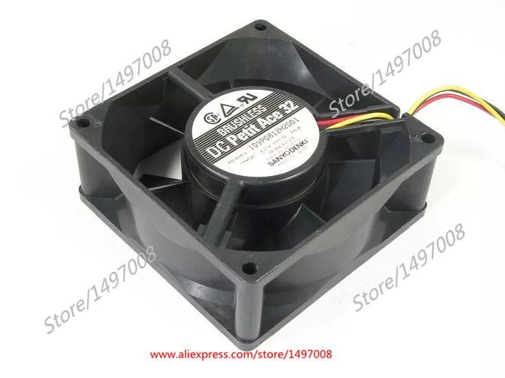 Free Shipping For SANYO 109P0812H2D01 DC 12V 0.16A, 80x80x32mm 3-wire 60mm Server Square cooling fan