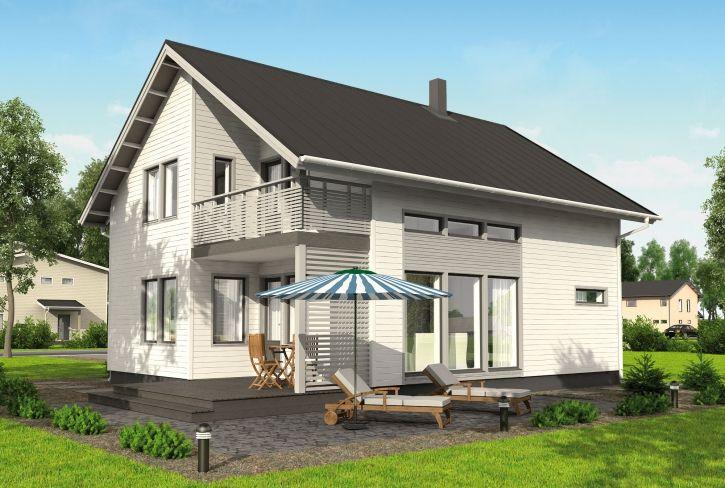 Tyyliä ja tehokkuutta – Elmeri: 130 m², 3 makuuhuonetta, 1,5-kerroksinen omakotitalo