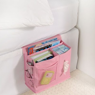 Bedside organization...I need this so bad! I haven't been able to find another one of these since I bought one for a friend for college years ago!