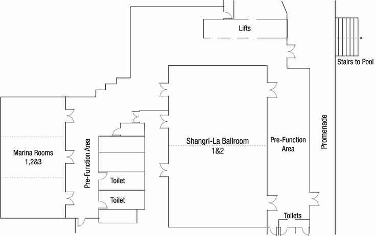 Level 2 Floorplan @ Shangri-La Hotel, The Marina, Cairns