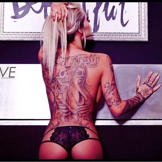 Back piece tattoo till death do us part skeleton tattoos for Until death do us part tattoo