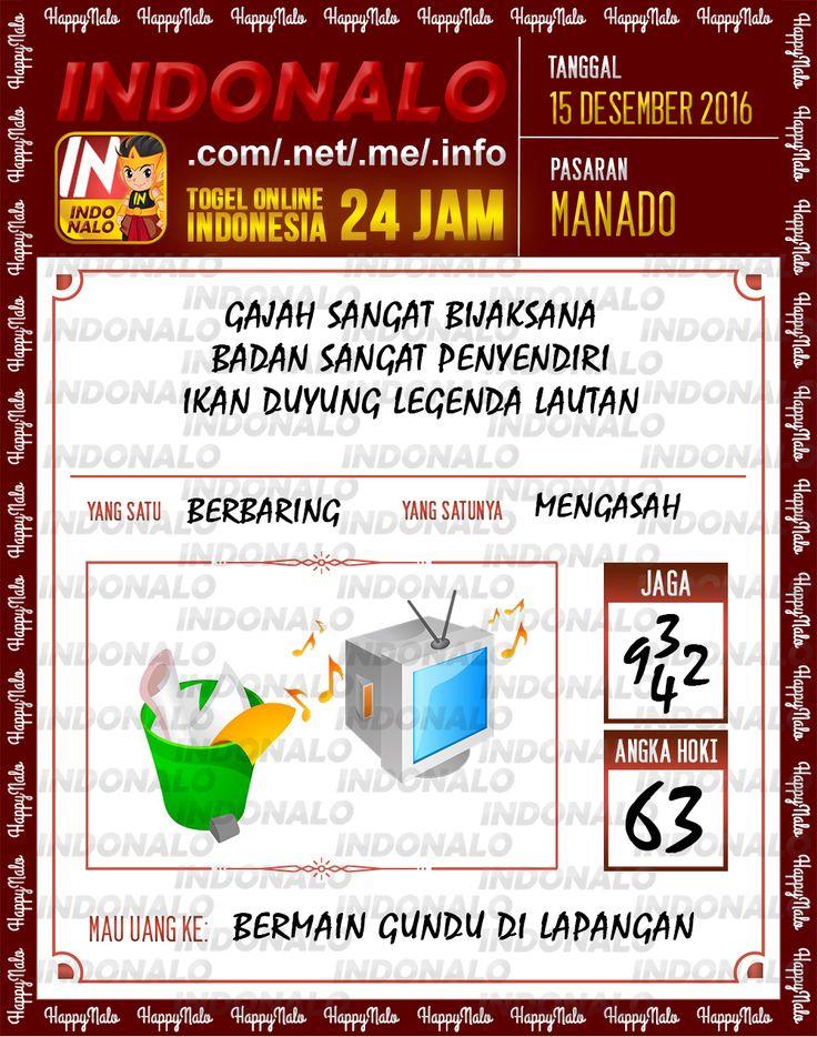 Tafsir Lotre 2D Togel Wap Online Live Draw 4D Indonalo Manado 15 Desember 2016