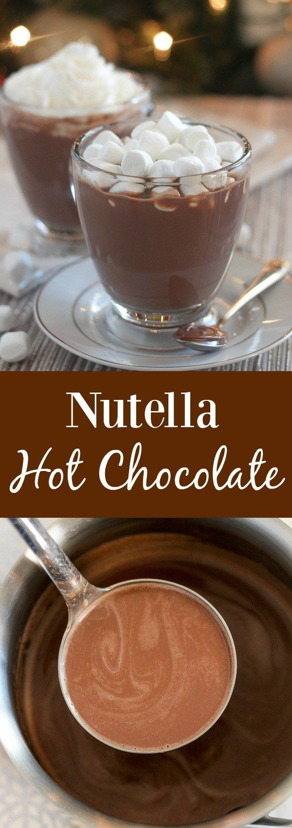 Nutella Hot Chocolate - Quick and easy chocolate and hazelnut flavored Nutella Hot Chocolate. Perfect for chilly days!