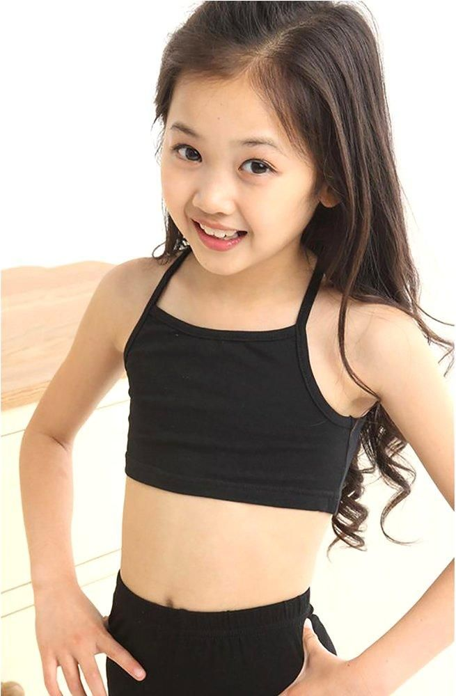 Young Girl's Training Bras Camisoles Solid Breathable Soft Underwear ...