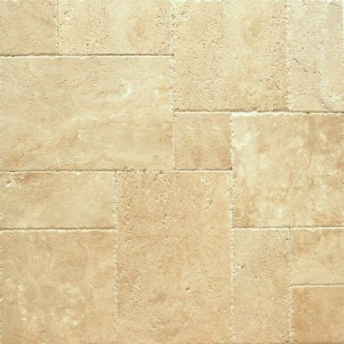 Light Travertine Tile French Pattern Set Durango Light