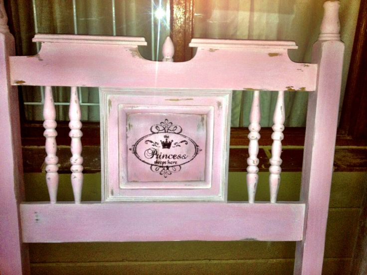 Pink HEADBOARD Shabby Chic-ed by Belle EpicQ! Find us on Facebook! www.facebook.com/BelleEpicq OR belleepicq.blogspot.com