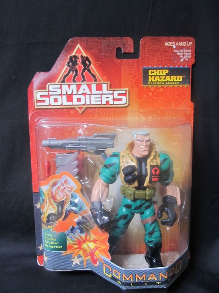 "Small Soldiers Chip Hazard Action Figure Kenner 1998 Firing Combat Blaster 7"" #Kenner"