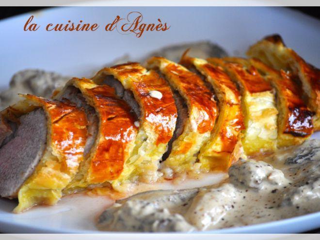 Recette Plat : Filet mignon en croûte au foie gras sauce aux morilles par Agnes.f