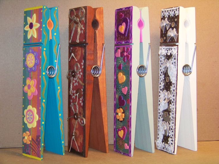 Jumbo 9 decorative clothes pins kottage kuties for Decorative pins for crafts