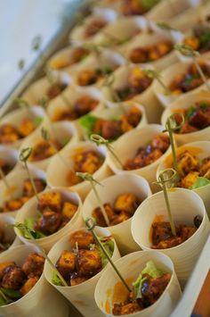 Tandoori paneer cups. No recipe. Just a great party idea.
