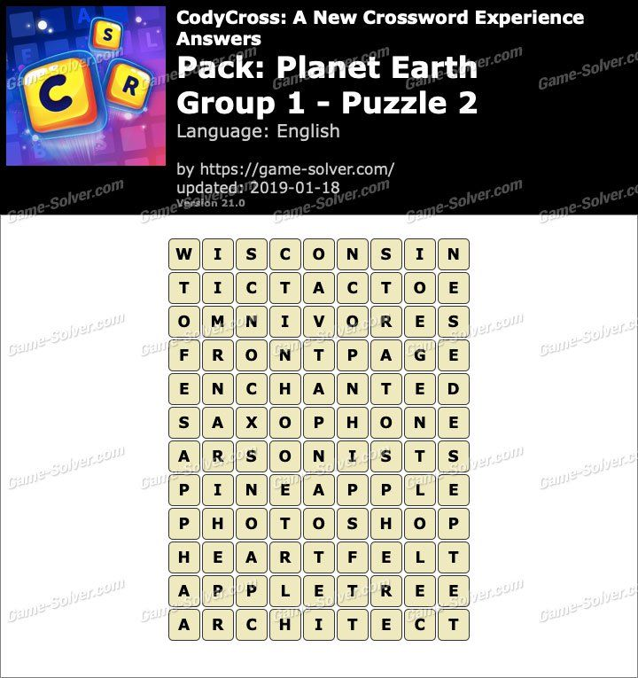 Codycross Planet Earth Group 1 Puzzle 2 Answers With Images