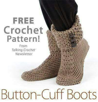 659 best bootti images on Pinterest | Crochet patterns, Slippers ...