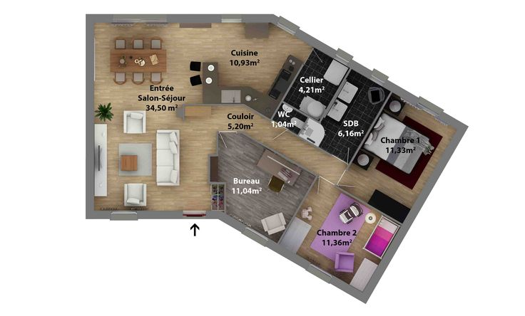 53 best maison images on Pinterest Carpentry, Kitchen small and - plan de maison en v gratuit