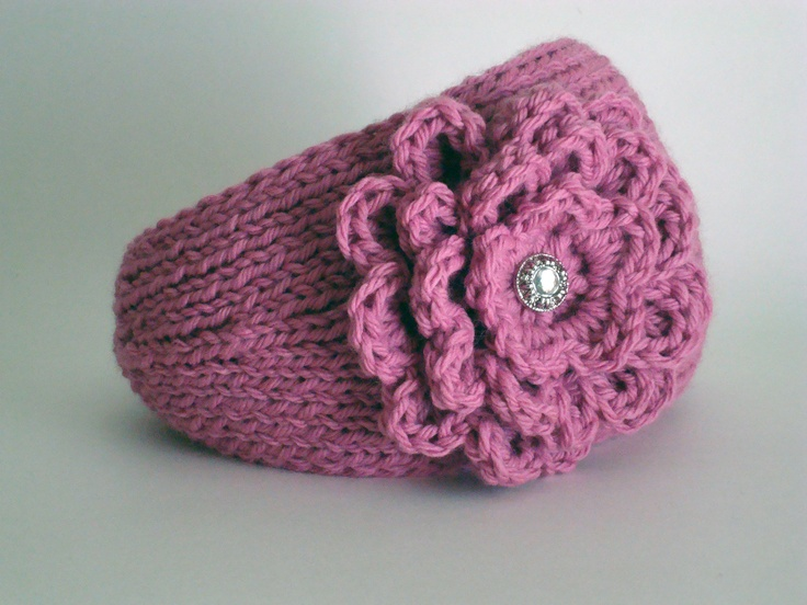 Knitting Patterns For Ear Warmers With Flower : 17 Best images about knitted ear warmers on Pinterest ...