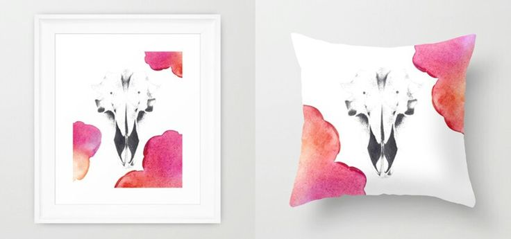 """The Ram"" Framed art print and Throw pillow by Amee Cherie Piek  Shop here: www.society6.com/ameecheriepiek"