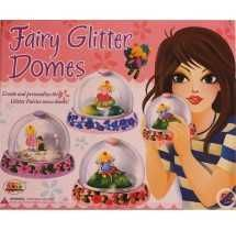Ekta Fairy Glitter Domes Rs. 330  CREATE & PERSONALISE 3 GLITTER FAIRIES' SNOW DOMES !  GIRLS & DOLLS are meant to be together.Dolls are a girl's very first friends ! This amazing kit takes this friendship to the next level - kids can literally create their doll friends themselves ! What a cool way to BEGIN a friendship !  Contents;  - Moulds of Fairies & Fairy Dome Base - 2 packets of easy to dry plaster powder - 6 Paint tubs - 1 Paint brush - 3 Ready Domes - Glitter Packet - Fevicol Sachet…