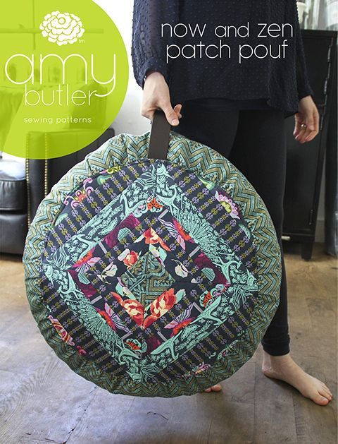 If only I quilted?! Meditation pouf pattern from Amy Butler