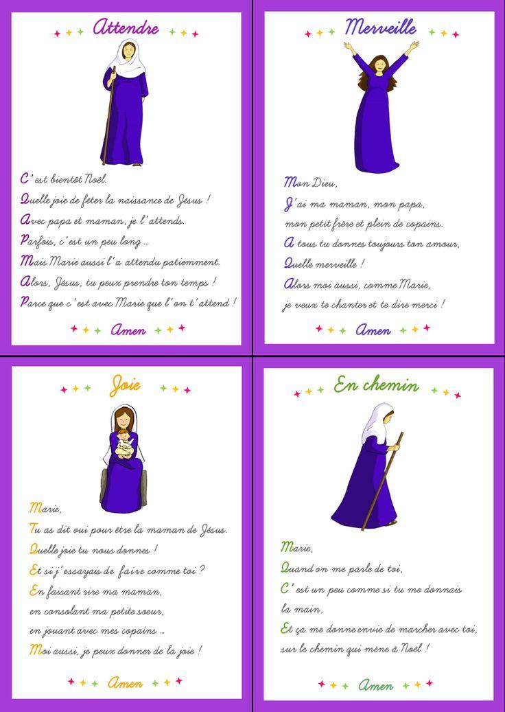 Cartes prières sur le thème de Marie. Ces cartes prières sont disponibles dans le n°6 de Cap P'tit Vent, le journal gratuit pour l'éveil à la foi du diocèse de Lyon, téléchargeable ici : http://initiationchretienne-lyon.cef.fr/cap-p-tit-vent.html