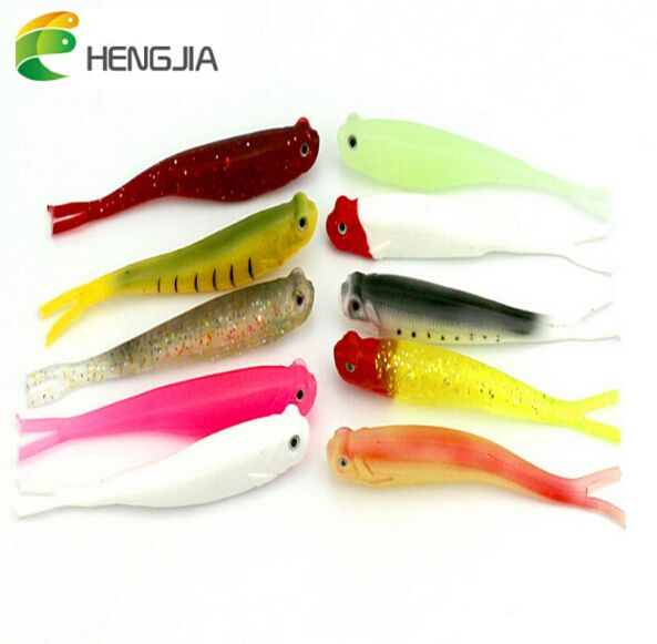 HENGJIA  Artificial Soft baits wholesale fishing tackle soft plastic fishing baits 13CM 8G soft bait lure silicone fishing lures
