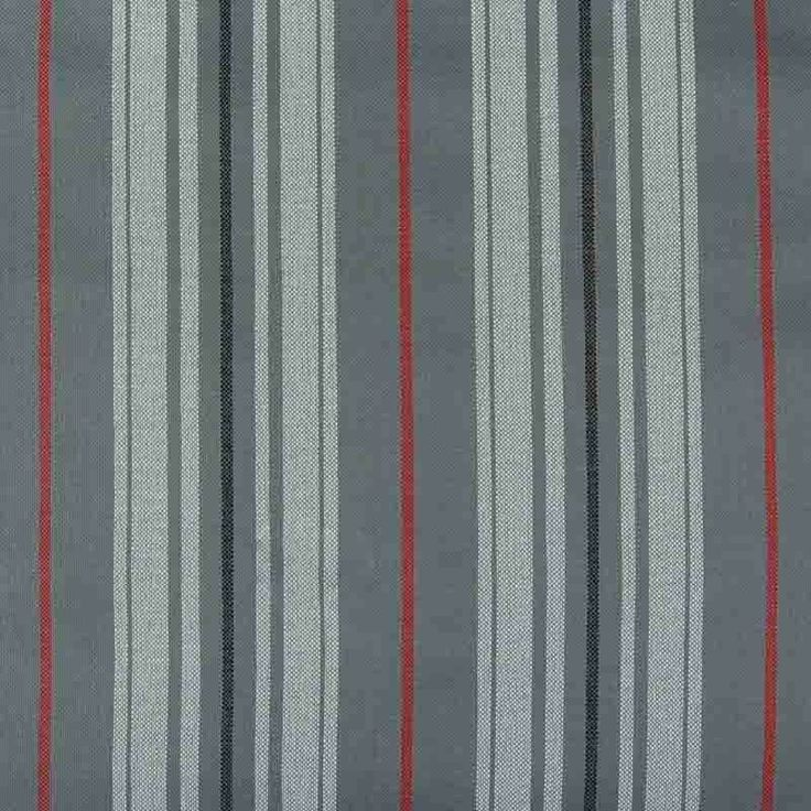 Abakhan Arizona Stripe Curtain Fabric 10700 Grey Red 140cm