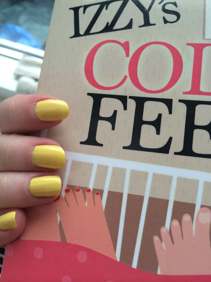 Yellow nails for Easter! + shameless plug of Izzy's Cold Feet ;)