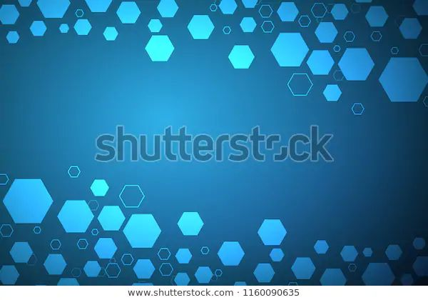 Abstract Hexagonal Molecular Structures Technology Background Stock Vector (Royalty Free) 1160090635