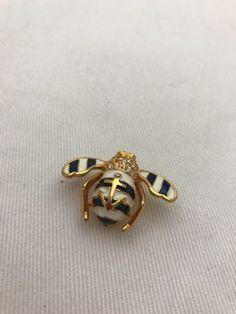 Joan River anchor bee pin