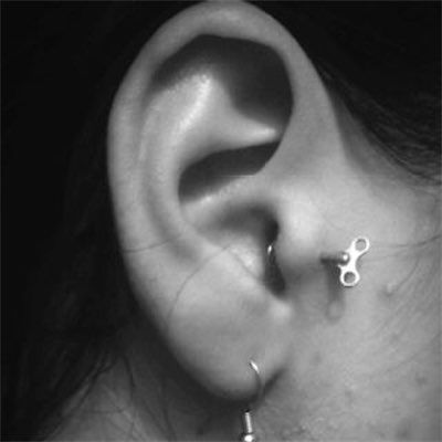 36 unique tragus piercing examples with tragus info guide. Black Bedroom Furniture Sets. Home Design Ideas