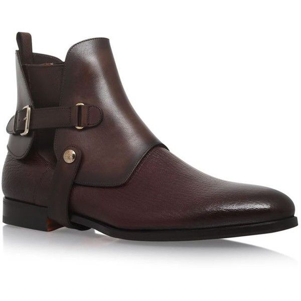 Santoni Riding Boots ($810) ❤ liked on Polyvore featuring men's fashion, men's shoes, men's boots, mens leather boots, mens woven leather slip-on shoes, santoni mens boots, mens slip on shoes and men's pull on boots