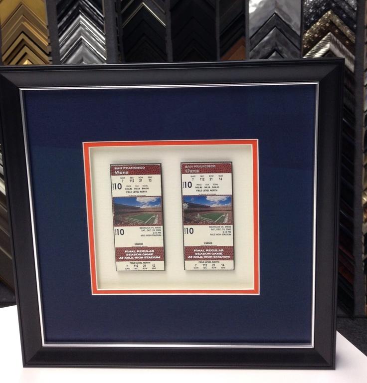 Custom Picture Frame Sports Memorabilia Design by