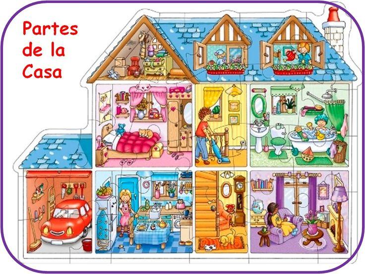 LAS PARTES DE LA CASA           ¡Hola! Chicos. Hoy vamos a familiarizarnos con las diferentes partes de una casa, sus habitaciones yalgu...